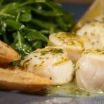 Scallops Alla Veneziana with Parmesan Toasts