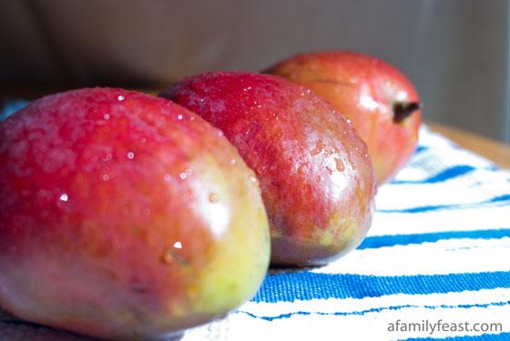 A light and creamy mango yogurt mousse. A taste of the tropics!