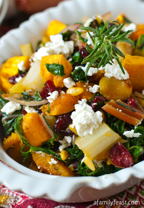 Butternut Squash with Swiss Chard - A Family Feast