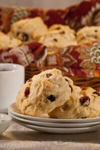 Cranberry Orange Scones - A Family Feast