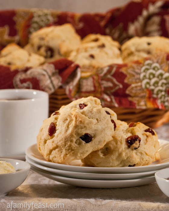 Cranberry Orange Scones - Seriously, the best scone recipe around!  Great, super moist base recipe and you can change up the flavors!
