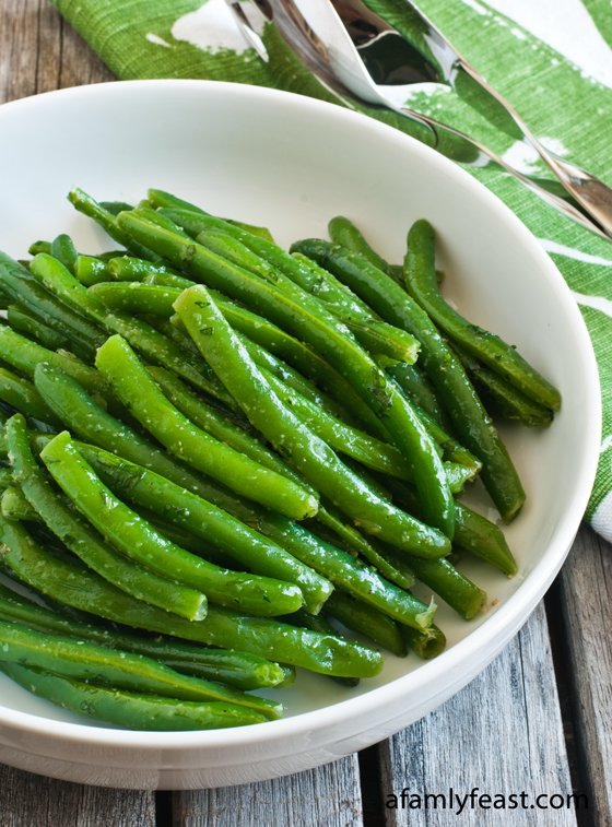 Green Beans with Tarragon - Fresh green beans with tarragon and garlic. The best green beans our guests have ever eaten!