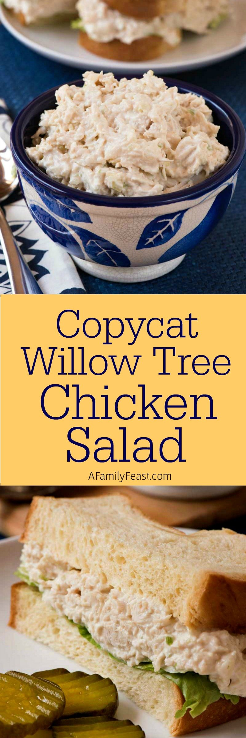 Copycat Willow Tree Chicken Salad - Our attempt at recreating the famous Willow Tree chicken salad - and I think we're pretty close!