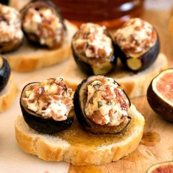 Baked Fig Crostini - A Family Feast