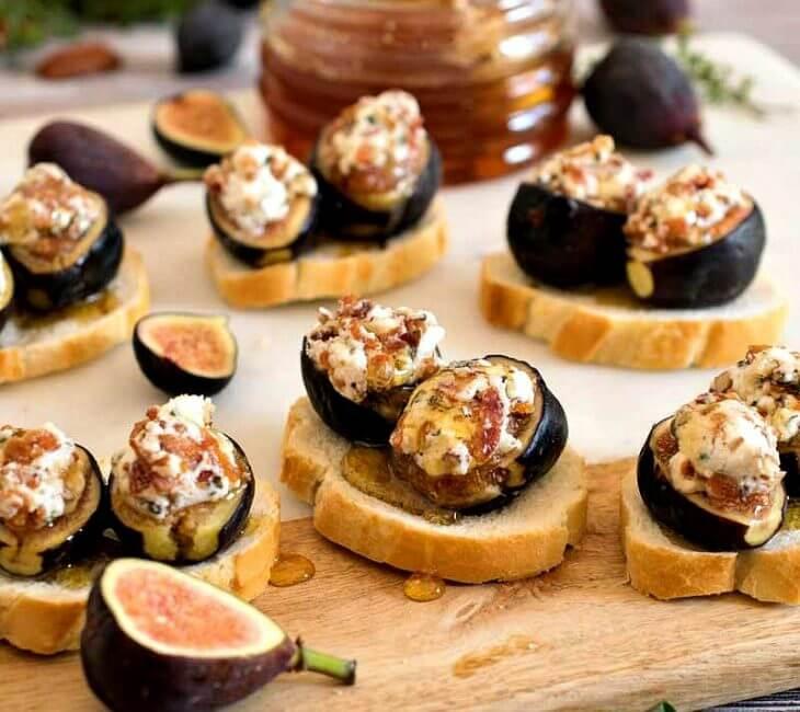 Baked Fig Crostini