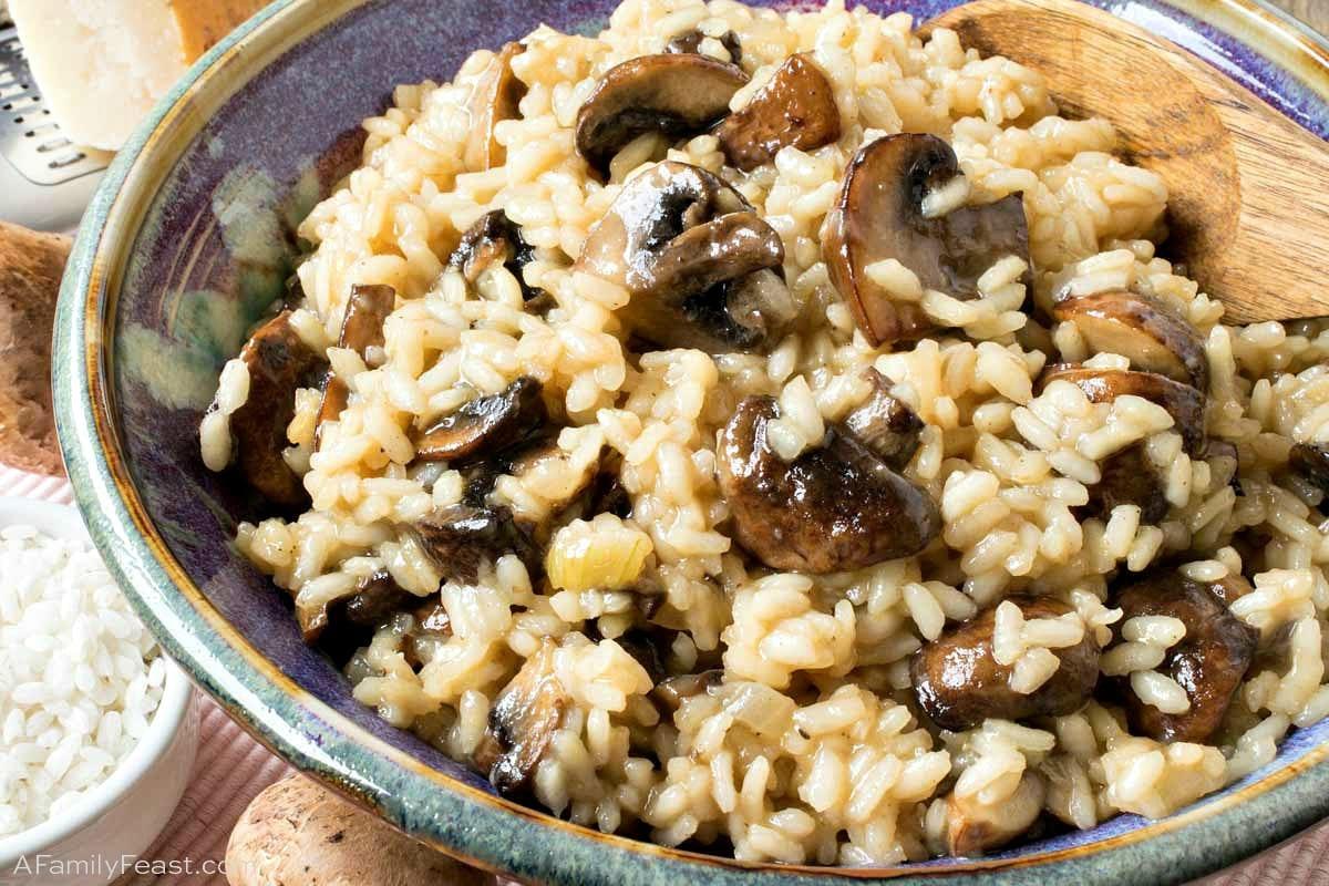 Mushroom Risotto A Family Feast