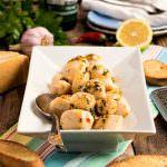 Scallops Alla Veneziana with Parmesan Toasts - A Family Feast