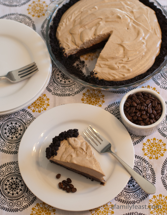 Black Bottom Espresso Pie - A Family Feast