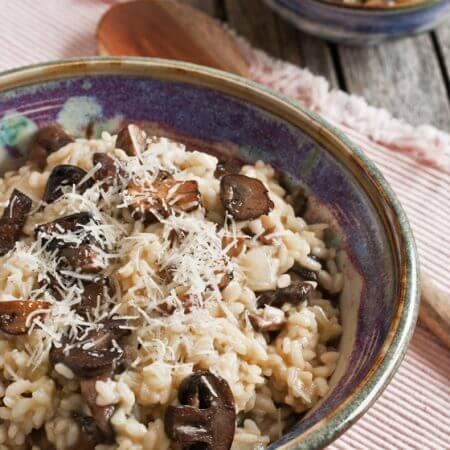 Mushroom Risotto - A Family Feast