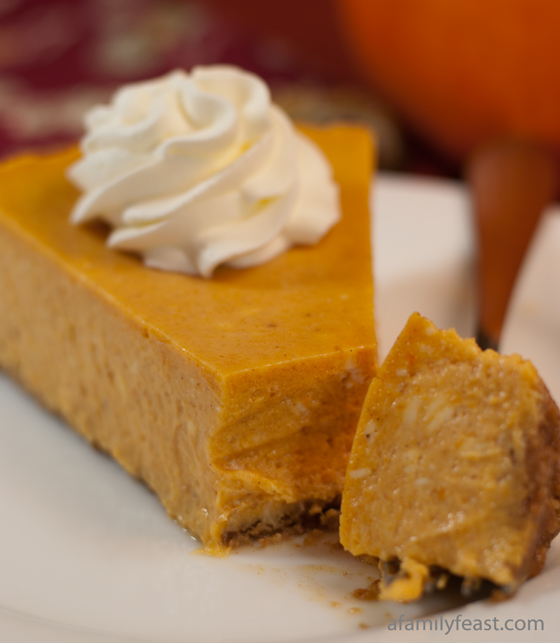 Pumpkin Cheesecake - A Family Feast