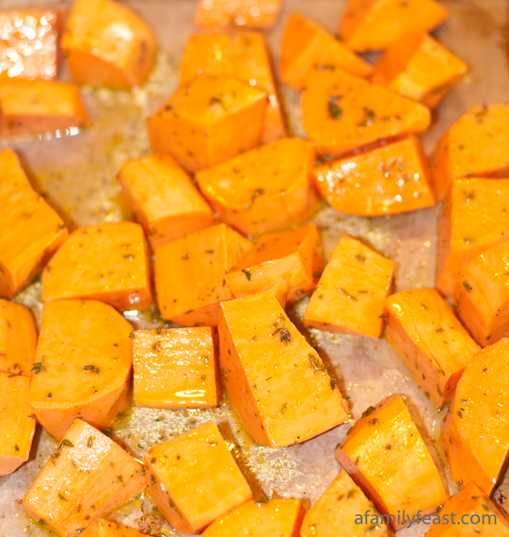 roasted mashed sweet potatoes