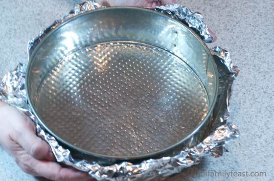 Water bath baking method with tinfoil