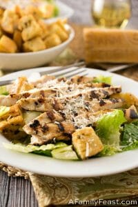 Caesar Salad with Grilled Caesar Chicken