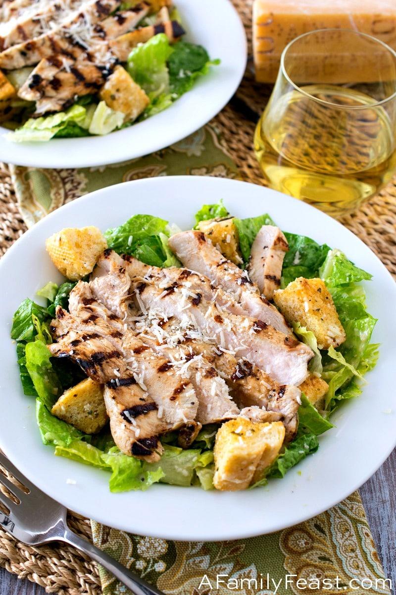 Caesar Salad with Grilled Caesar Chicken