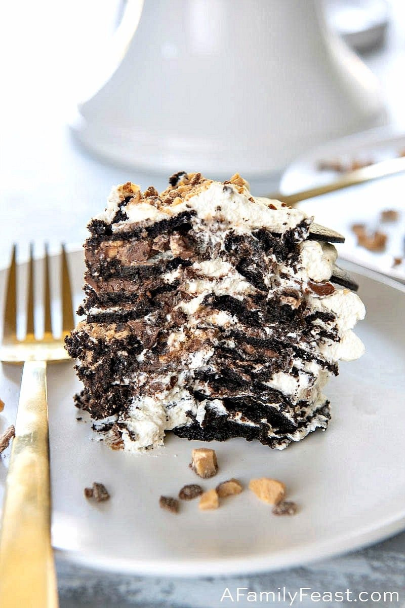 Chocolate Nutella Toffee Icebox Cake
