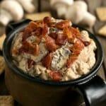 Warm Mushroom Bacon Dip - A Family Feast