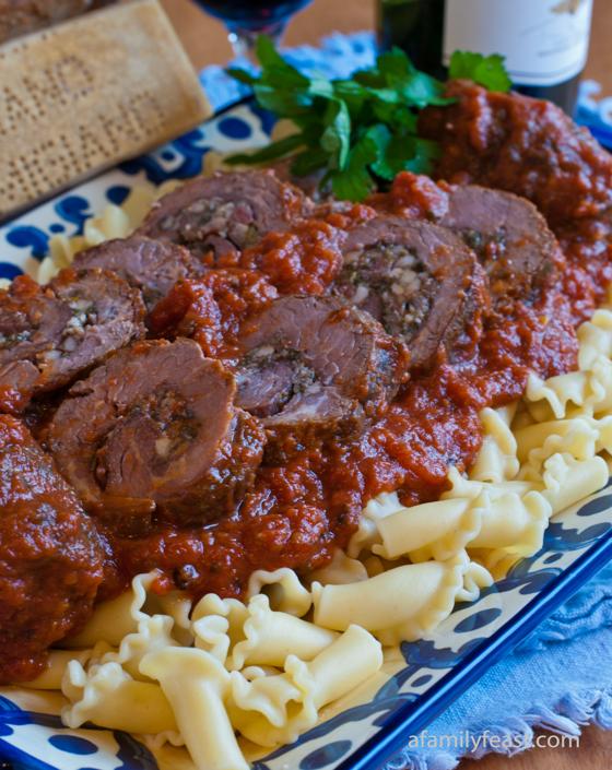 Grandma Gennaco's Beef Braciole by A Family Feast