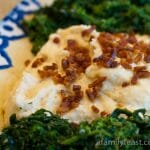 Creamy Polenta with Pancetta and Broccoli Rabe
