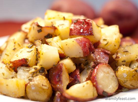 Tuscan Roasted Potatoes - A Family Feast