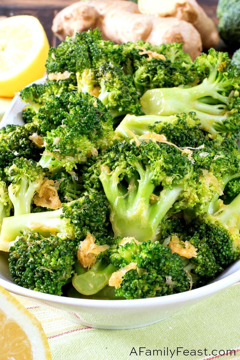 Lemon Ginger Broccoli