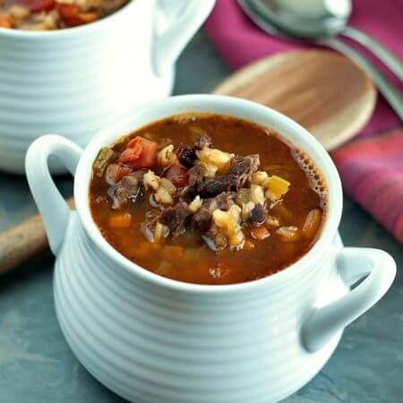 Beef Barley Soup - A Family Feast