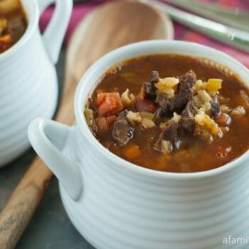 Beef and Barley Soup - A Family Feast