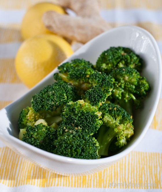 Lemon-Ginger Broccoli - A Family Feast