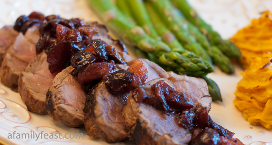 Pork Tenderloin with Pomegranate Pan Sauce - A delicious and elegant dinner