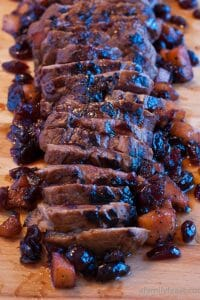 Pork Tenderloin with Pomegranate Pan Sauce - A Family Feast