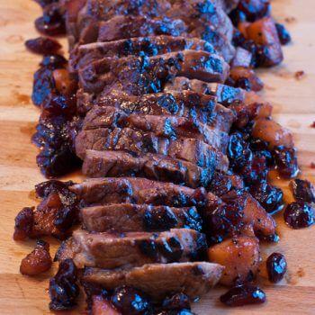 Pork Tenderloin with Pomegranate Pan Sauce - A Family Feast