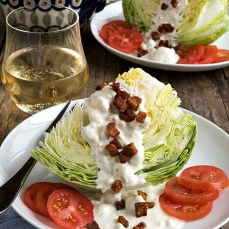 Roman Wedge Salad with Blue Cheese Dressing