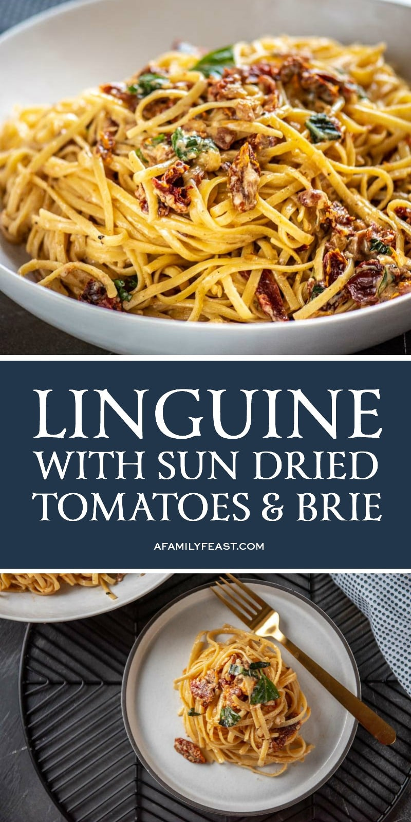 Linguini with Sun Dried Tomatoes and Brie