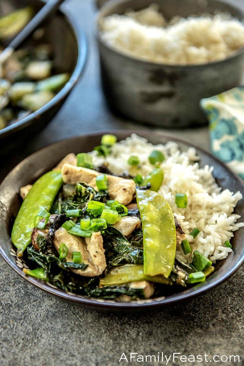 Velvet Chicken with Vegetables