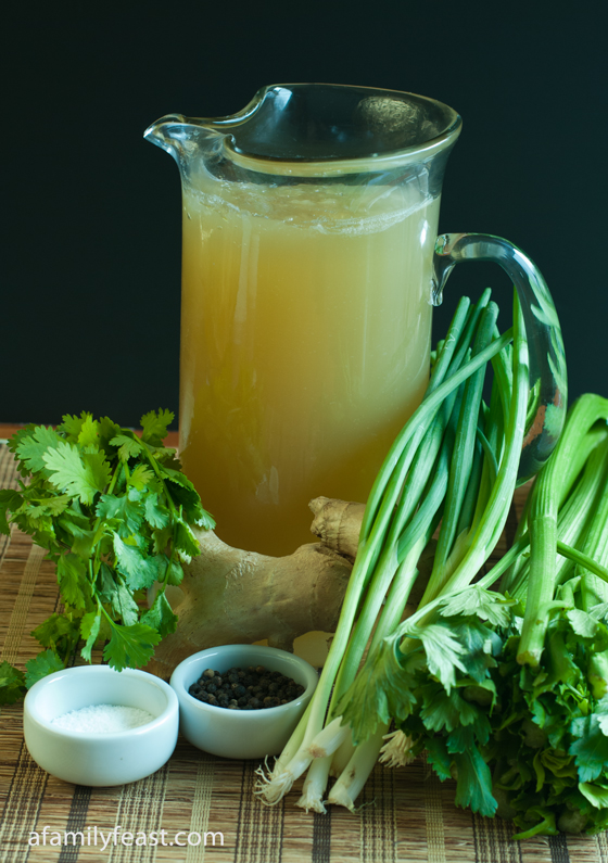 A flavorful Asian Chicken Stock that can be used for soups and other recipes.