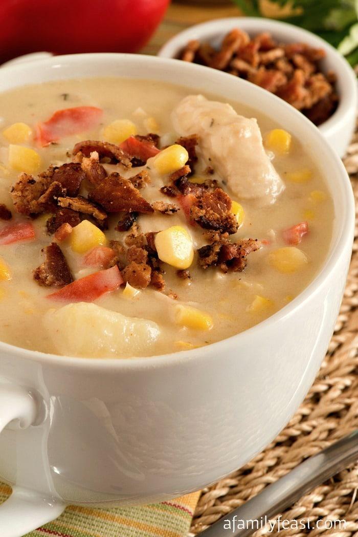Chicken Corn Chowder - A Family Feast