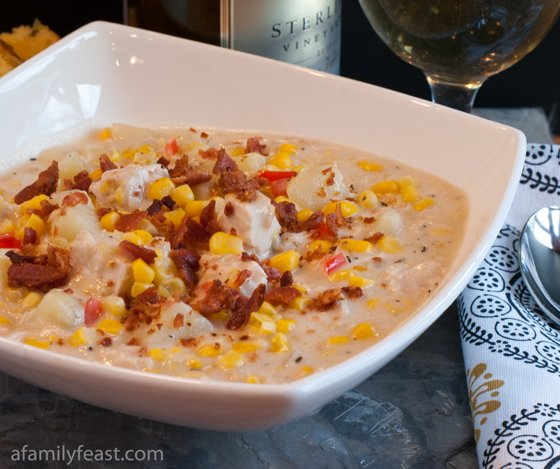 Chicken Corn Chowder - A Family Feast