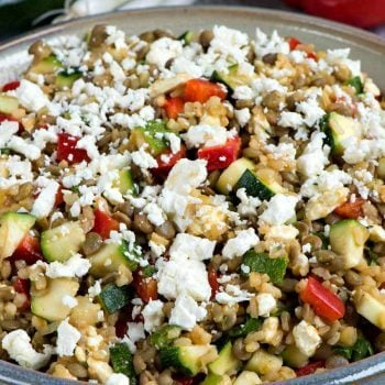 Lentils with Brown Rice and Feta - A Family Feast