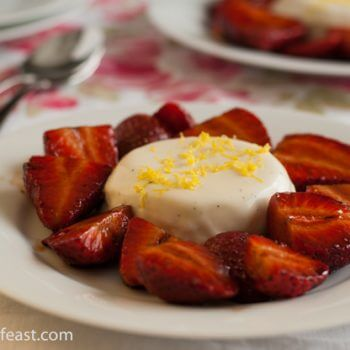 Panna Cotta with Balsamic Strawberries - A Family Feast