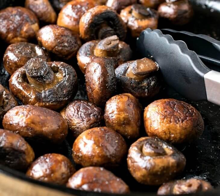 Sautéed Mushrooms with Bourbon