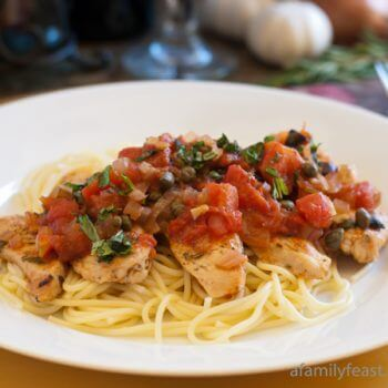 Zesty Chicken with Shallots, Capers and Olives - A Family Feast