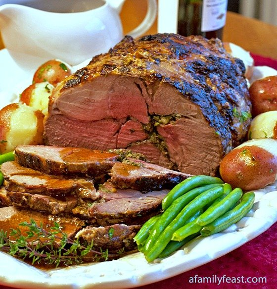 A delicious way to prepare Roasted Boneless Lamb with Red Wine Pan Sauce - perfect for an Easter Sunday family meal!
