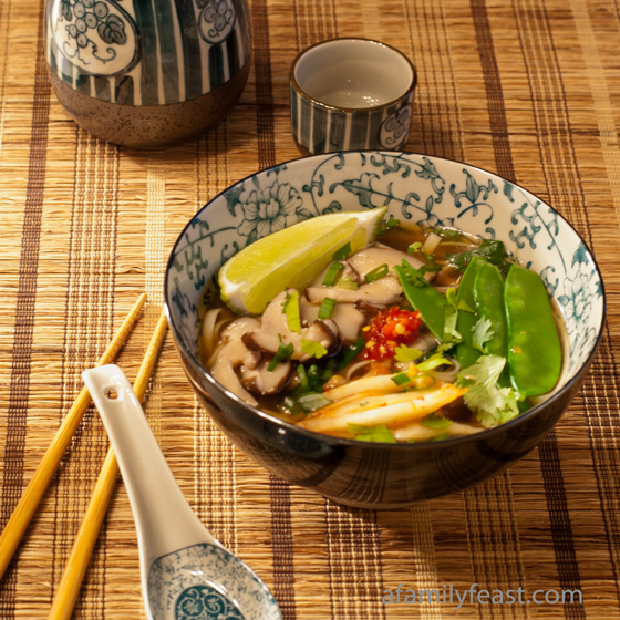 A fun meal idea for a 'make-your-own' Asian Noodle Soup.