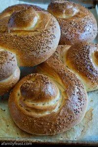 Pane Siciliano - Sesame Seed Siciliano Bread - A Family Feast
