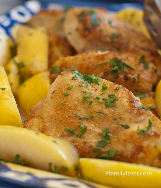 Chicken and Apples in Honey Mustard Sauce - A Family Feast