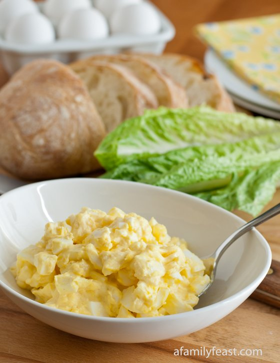 Classic Egg Salad - Simple ingredients are best with it comes to making a classic egg salad!