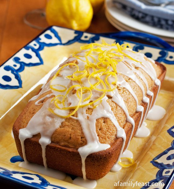 A moist and delicious lemon loaf cake with iced tea added for additional flavor. So good!