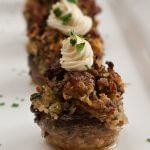 Sausage Stuffed Mushrooms with Mascarpone