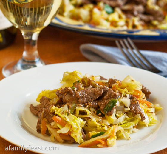 A delicious Beef and Cabbage Stir Fry recipe - part of the Weekday Triple Play series for busy families!