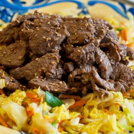 Beef and Cabbage Stir Fry - A Family Feast