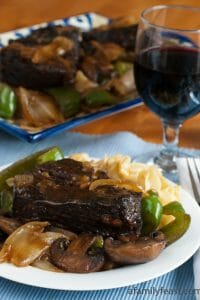 Braised Beef Over Egg Noodles - A Family Feast